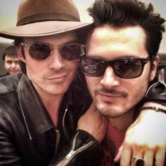 Ian Somerhalder and Michael Malarkey