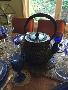 Japanese tea kettle up close.  Great craftsmanship.