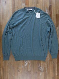 BRUNELLO CUCINELLI lightweight green wool cashmere sweater - Size 54 EU - NWT | Clothing, Shoes & Accessories, Men's Clothing, Sweaters | eBay!