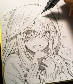 best cute drawings, disney drawings, drawing poses of techniques, great examples of drawings. Anime Drawings Sketches, Anime Sketch, Kawaii Drawings, Cute Drawings, Pencil Drawings, Anime Character Drawing, Manga Drawing, Manga Art, Character Art