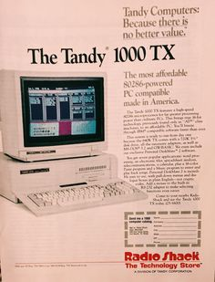 1980's Tandy Computer #vintageads #Ads #vintage #PrintAd #tvads #advertising #BrandScience #influence #online #Facebook #submissions #marketing #advertising