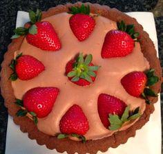 Chocolate mousse tart with strawberries.  sweetspellbaking.wordpress.com