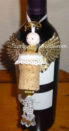 Sale Angel tree ornament gift tag metal wings one by Corkycrafts