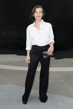 Milla Jovovich at Chanel Fall 2013