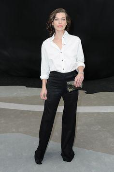 Milla Jovovich at Chanel Fall 2013
