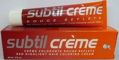 Subtil Creme Rouge Reflects - Red Highlight Hair Coloring Cream Enhanced with Epaline for Gentleness - Size: 2.0 Fl. Oz. Tube - Shade Selection: 5.20 - Intense Light Brown Violet. -- Click image for more details.