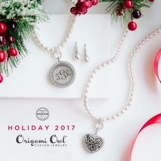 Keep it simple this holiday season with pearls from origami owl! Add dangles or add a locket! Visit: https://dreambig.origamiowl.com/ #pearls #jewelry #necklaces #lockets #giftsforher