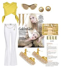 """White n Gold."" by glamuh on Polyvore featuring Gucci, Tom Ford, Chanel, MSGM, Charlotte Olympia and Roger Vivier"