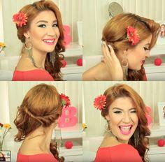 Penteado simples com enroladinho lateral por Bianca Andrade | All Things Hair™ | Boca Rosa