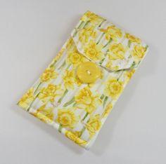 Yellow Daffodil Fabric Padded Phone Cover - Free UK P&P £8.00