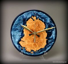 Unique wood and resin clock by DetrickWoodworking on Etsy