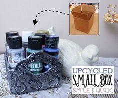 celtic style box upcycle, crafts, organizing, repurposing upcycling