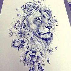 tattoo designs 2019 Masculine, yet feminine too! Would make a great shoulder tattoo! tattoo designs 2019 Masculine, yet feminine too! Would make a great shoulder tattoo! Leo Tattoos, Future Tattoos, Body Art Tattoos, Tatoos, Shaded Tattoos, Piercings, Piercing Tattoo, Tigh Tattoo, Lion Thigh Tattoo