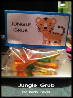 """King of the Jungle"" Baby Shower - Party Favor Treats"