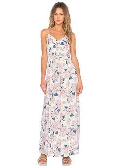 Aster Garden V Neck Maxi Dress