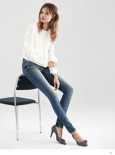 Magdalena Frackowiak Models H&M Fall 2014 Denim Looks