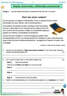 Grade 4 Afrikaans Toets 4 - Pizzas Quotes Dream, Life Quotes Love, Robert Kiyosaki, Afrikaans Language, Tony Robbins, Exam Papers, Napoleon Hill, Packing Tips, Comprehension