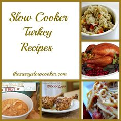 Pin these Turkey Slow Cooker Recipes now! These are so good, perfect for your leftover turkey from Thanksgiving.