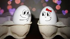 Be my valentine.Cute egg presenting a flower to a another cute egg. Easter Egg Crafts, Easter Eggs, Funny Eggs, Easter Funny, Easter Drawings, Cute Egg, Easter Egg Designs, Egg Art, Rock Crafts