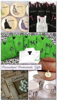 bridesmaids gifts. Like the blog