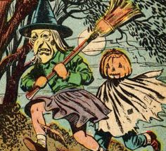 Vintage Halloween illustration.