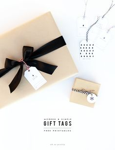 Free Printable Gift Tags - simple modern.