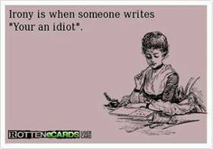 This is perfect humor for a grammar nerd. E Learning, The Words, Anchor Charts, National Grammar Day, Just In Case, Just For You, Funny Quotes, Funny Memes, Quotable Quotes