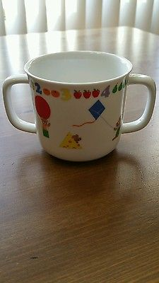 Teachers pets lenox kids child 2 handle cup porcelain made in England