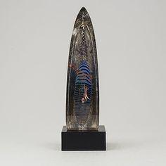 BERTIL VALLIEN, skulptur, glas, Kosta Boda Atelier. - Bukowskis Kosta Boda, Bukowski, Glass Art, Atelier, Sculptures, Jar Art