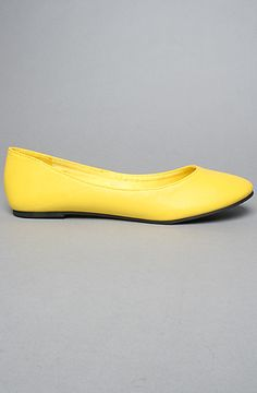 The Oriana Flat in Yellow Women's Shoes By *Sole Boutique $16.00