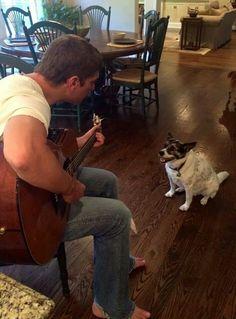 Rob Thomas with his dog Foxy