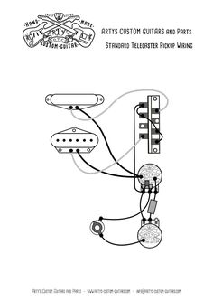 Esquire wiring diagram prewired Kit Arty's Custom Guitars