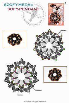 Ewa gyöngyös világa!: Minta / Pattern