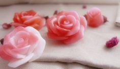 Jabón con forma de rosa de glicerina www.todoenrosa.com