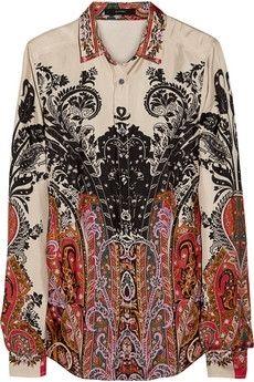 Etro Printed silk shirt NET-A-PORTER.COM - StyleSays