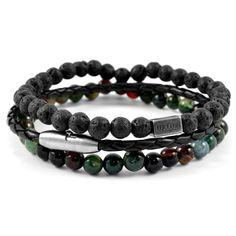 Buy Lucleon - Green Living Bracelet for only Shop at Trendhim and get returns. Making Bracelets With Beads, Bracelets For Men, Leather Bracelets, Surfer Bracelets, Bracelet Cuir, Bracelet Set, Paracord Bracelets, Beaded Bracelets, Diamond Bracelets