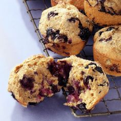 Blueberry-Maple Muffins | Healthy Muffins - 15 Healthy Muffin Recipe Ideas | Healthy Recipes | Food | Disney Family.com