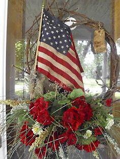 a patriotic wreath, so nice