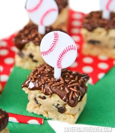 Cookie Dough Rice Krispies Treats