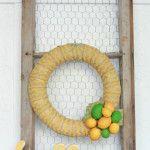 Chevron citrus wreath