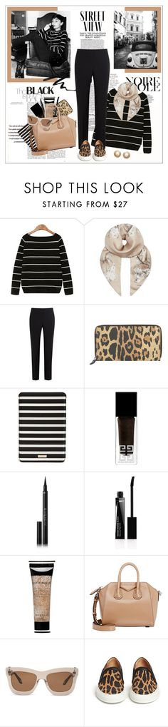 """""""Audrey Hepburn - Street view"""" by amaryllis ❤ liked on Polyvore featuring Givenchy, Paul Smith, Kate Spade and Stila"""