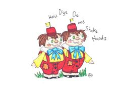 Tweedledee and Tweedledum are my favorite pair of oddballs in Alice in Wonderland. I'm currently in a musical in which I play the character Tweedledee. ~cherrydragon6
