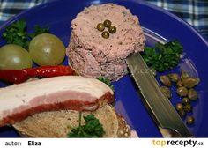 Domácí paštika s červeným vínem a zeleným pepřem recept - TopRecepty.cz Pork, Beef, Cleaning, Kale Stir Fry, Meat, Pigs, Ox, Ground Beef, Steak