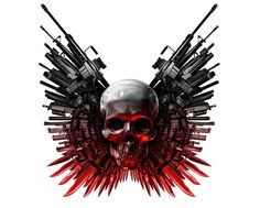 Thin Lizzy's The Boys Are Back In Town, re-recorded and ripped straight from the expendables movie. The Expendables, Expendables Tattoo, Skull Wallpaper, Hd Wallpaper, Hacker Wallpaper, Gi Joe, Tattoos Costas, Tattoo No Peito, Claude Van Damme