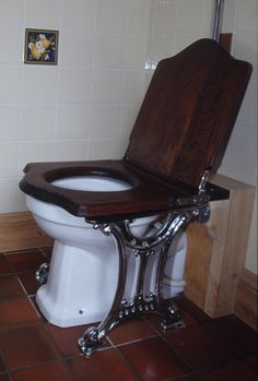 Art deco toilet with brackets (now that;s what i call a throne!)