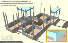 dak-cor-desain-rumah-minimalis-3-kamar House Construction Plan, Small House Design, Home Design Plans, My Dream Home, Building A House, Sweet Home, How To Plan, Aries, Modern