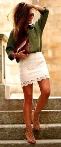 lace skirt holiday outfit #StyleScavenger