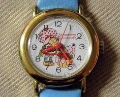 Vintage Strawberry Shortcake Character Wrist Watch, Swiss-Made, American Greetings Corp. Strawberry Shortcake Characters, Vintage Strawberry Shortcake, Huckleberry Pie, Raspberry Tarts, American Greetings, Blue Berry Muffins, Vintage Watches, Children's Watches, Clock