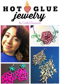 Hot Glue Jewelry by CraftyChica.com