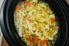 Checkout this amazing, light Crock Pot Chicken Noodle Soup Recipe at LaaLoosh.com. The best homemade chicken soup recipe you'll ever make, and just 4 Points +!